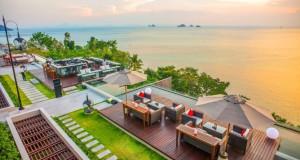 Le bar de l'hôtel continental à Koh Samui