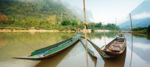 Bateau de pêche sur le Mekong