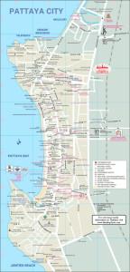 Carte de Pattaya - Cliquez pour agrandir
