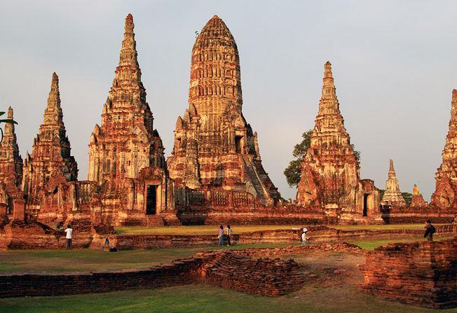 Vestige de l'ancienne capitale du Siam : Ayutthaya