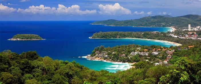 Vue de l'ile de Phuket en Thailande
