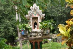 Maison des esprits en Thailande