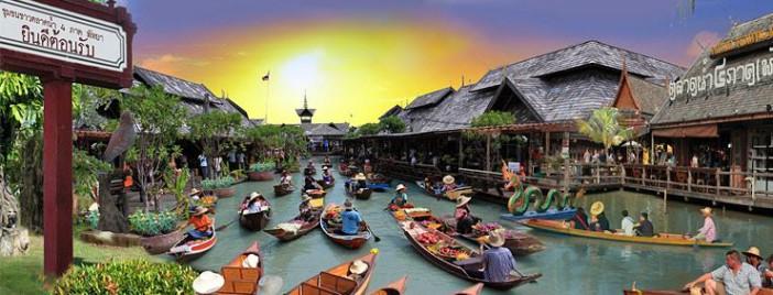 Le marché flottant de Pattaya