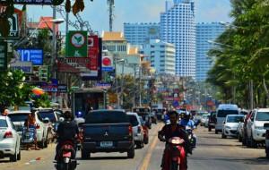 La beach road à Pattaya