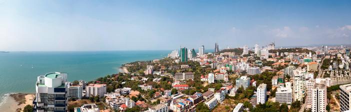 Vue du quartier de Pratumnak à Pattaya