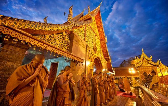 Le temple de Doi Suthep à Chiang Mai