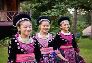 Population Hmong à Chiang Mai en Thailande