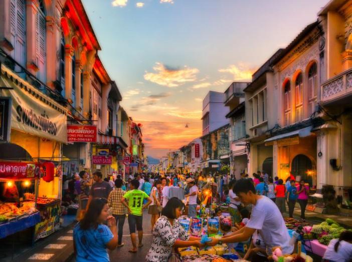 Marché à Phuket Ville