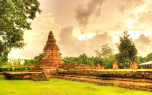 Le temple de Wiang Kum Kam à Chiang Mai