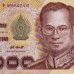 Billet de banque thaïlandais de 1000 Bath
