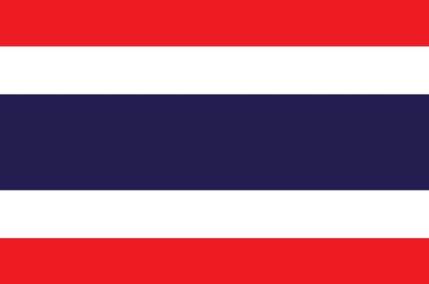 Les couleurs du drapeau officiel de la Thailande