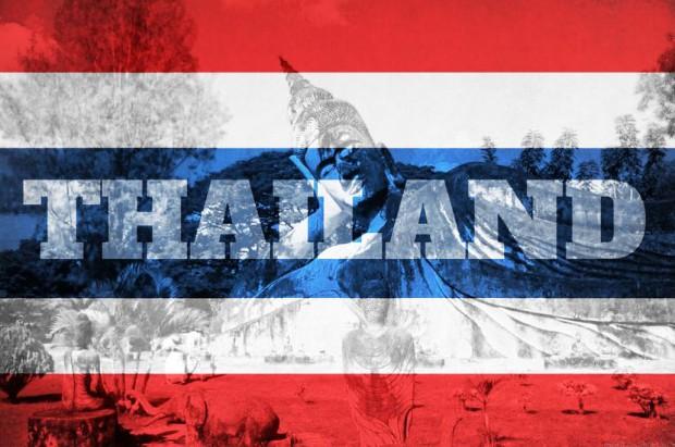 Drapeau aux couleurs de la Thailande