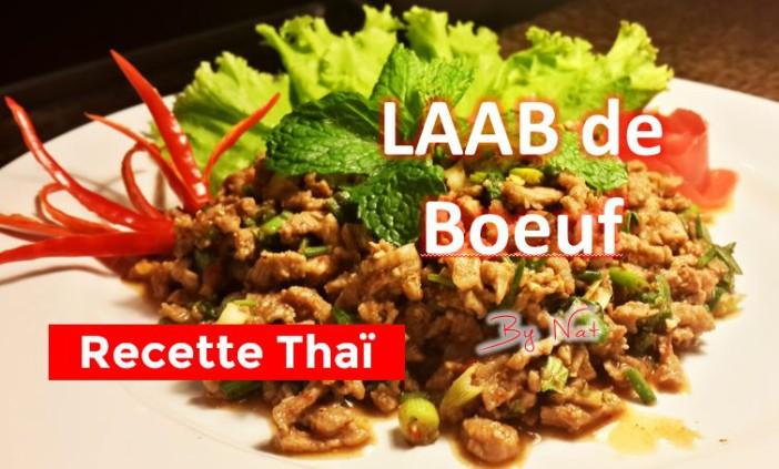 La recette Thailandaise du Laab de Boeuf