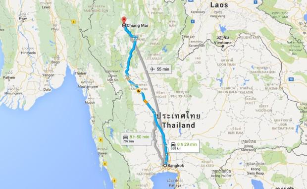 carte-trajet-bangkok-chiang-mai