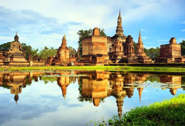 Vestige de l'ancienne capitale du royaume de Sukhothaï