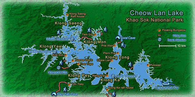Carte de Khao Sok