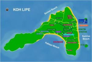 Carte de Koh Lipe