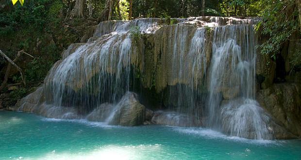 La cascade du parc national d'Erawan