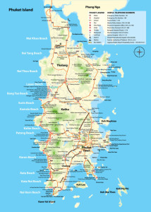 Carte de Phuket - Cliquez pour agrandir