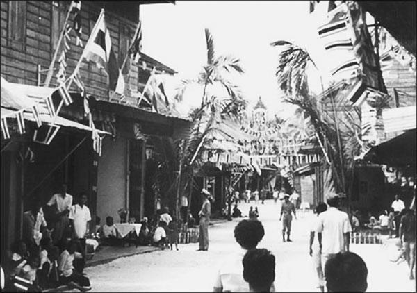 Une rue à Koh Samui dans les années 1970