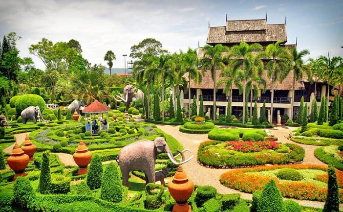 Le jardin de Nong Nooch Garden à Pattaya