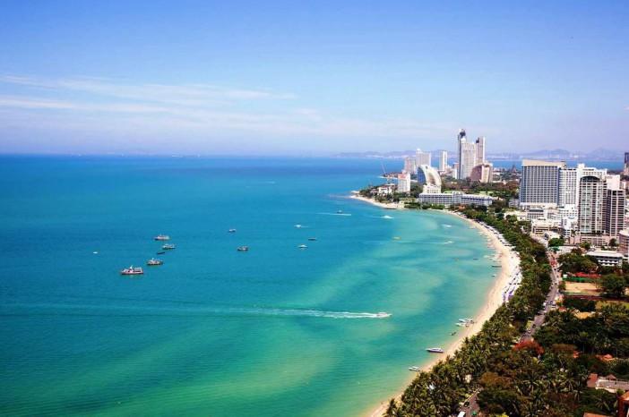 La plage de Pattaya en Thailande