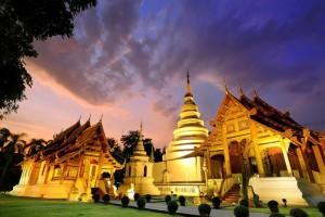 Le temple wat Phra Sing à Chiang Mai