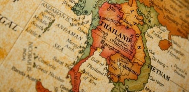 Carte ancienne de Thailande