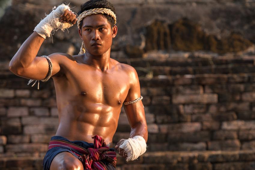 Boxeur de Muay Thai en Thailande