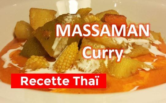 La recette du Massaman Curry au légume