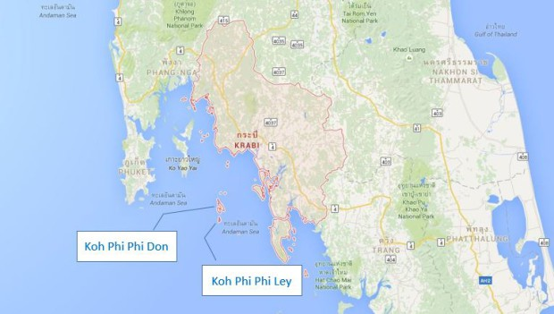 carte-situation-ile-koh-phi-phi-ley-don