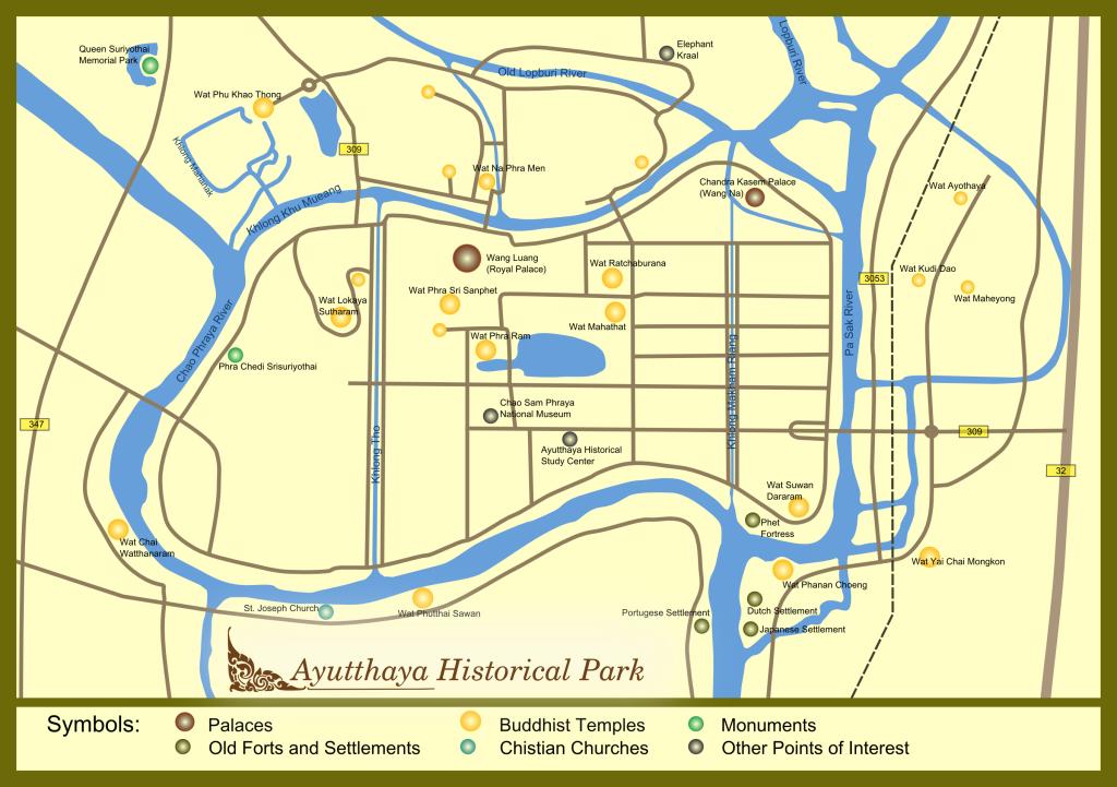Carte d'Ayutthaya