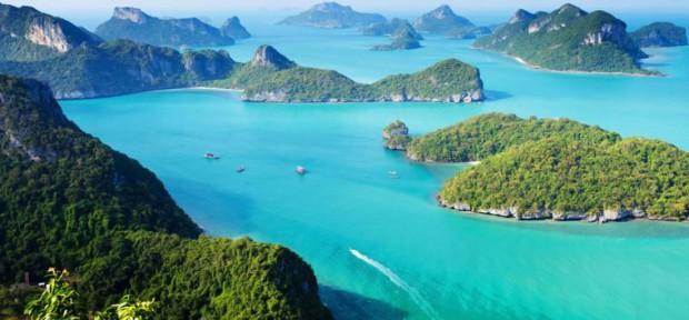 Iles à Koh Chang vue du ciel