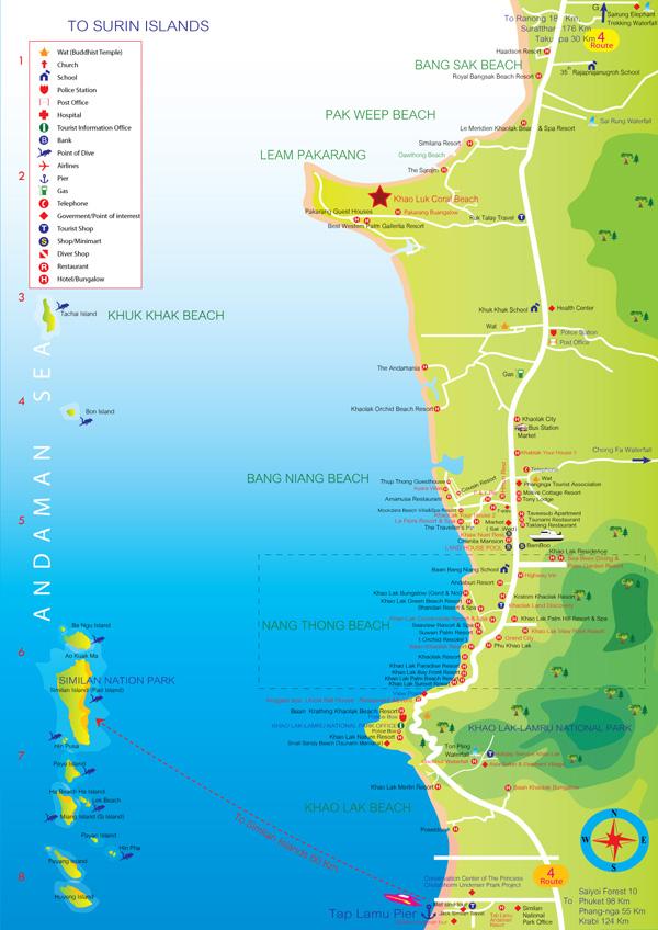 Carte Cote Ouest Thailande.Comment Visiter Khao Lak En Thailande Allo Thailande
