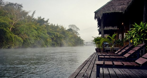 Rivière Kwai à Kanchanaburi